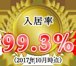 入居率99.3%